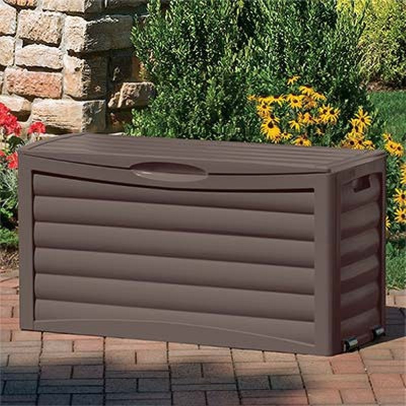 Log Cabin Sheds: Outdoor Deck Box 63 Gallons