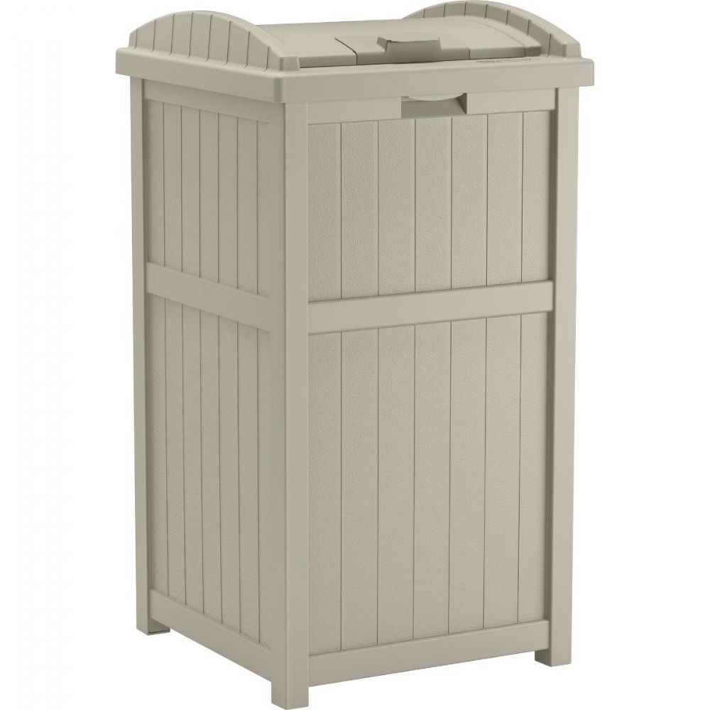 Outdoor Cabinets, PVC, Plastic: Outdoor Trash Hideaway
