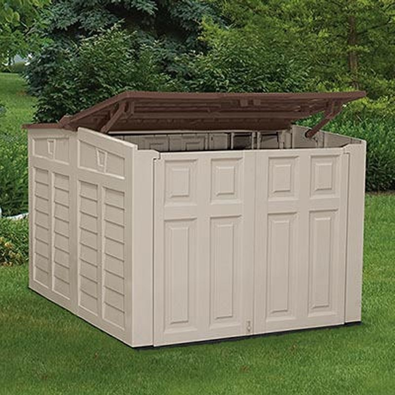 Outdoor utility shed large pvc sugs8600 for Big sheds for garden