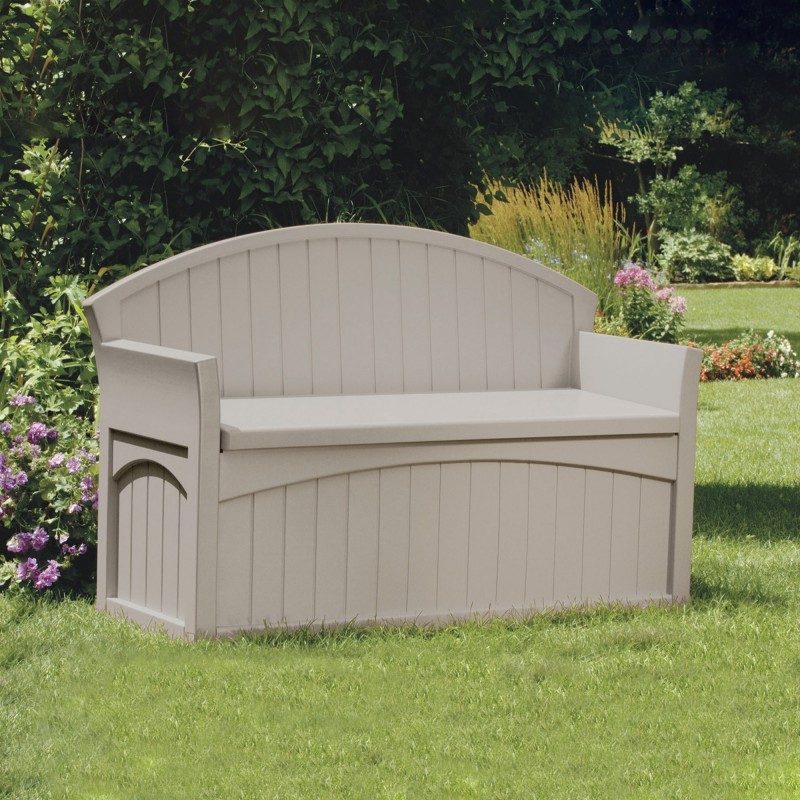 Log Cabin Sheds: Outdoor Bench Deck Box 50 Gallons