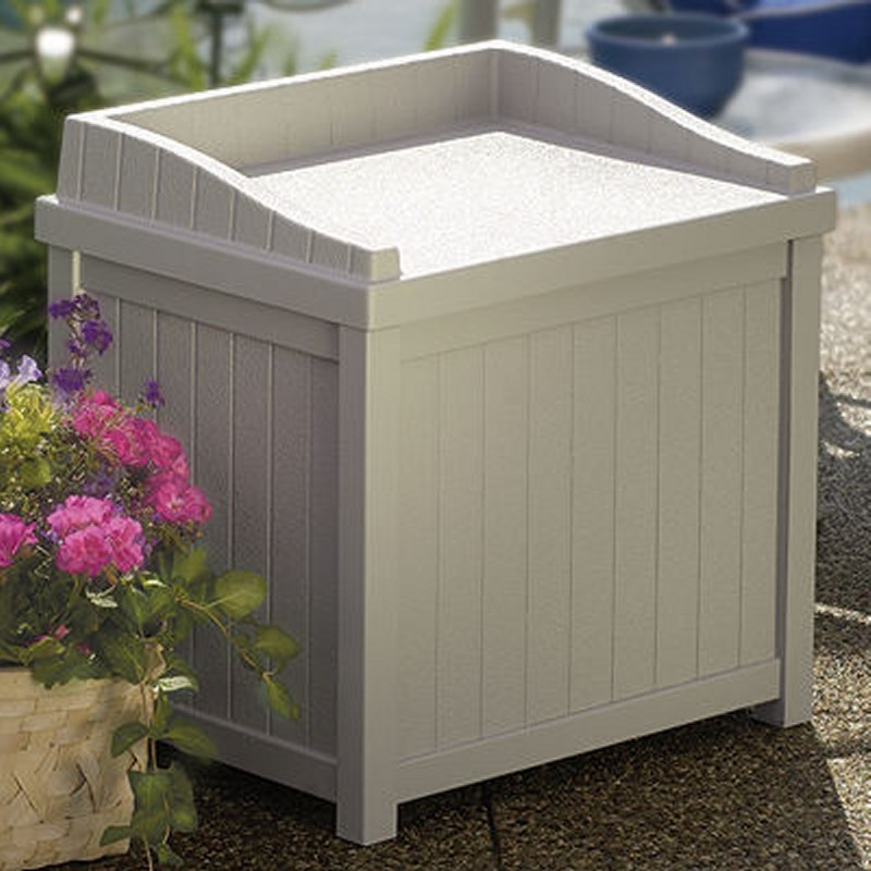 Log Cabin Sheds: Outdoor Deck Box Seat 22 Gallons