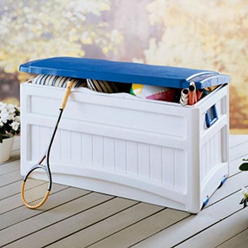 Pool Storage Box 73 Gallons w/Blue Lid