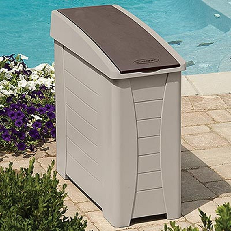 Outdoor Cabinets, PVC, Plastic: Outdoor Side Station Container 22 Gallons