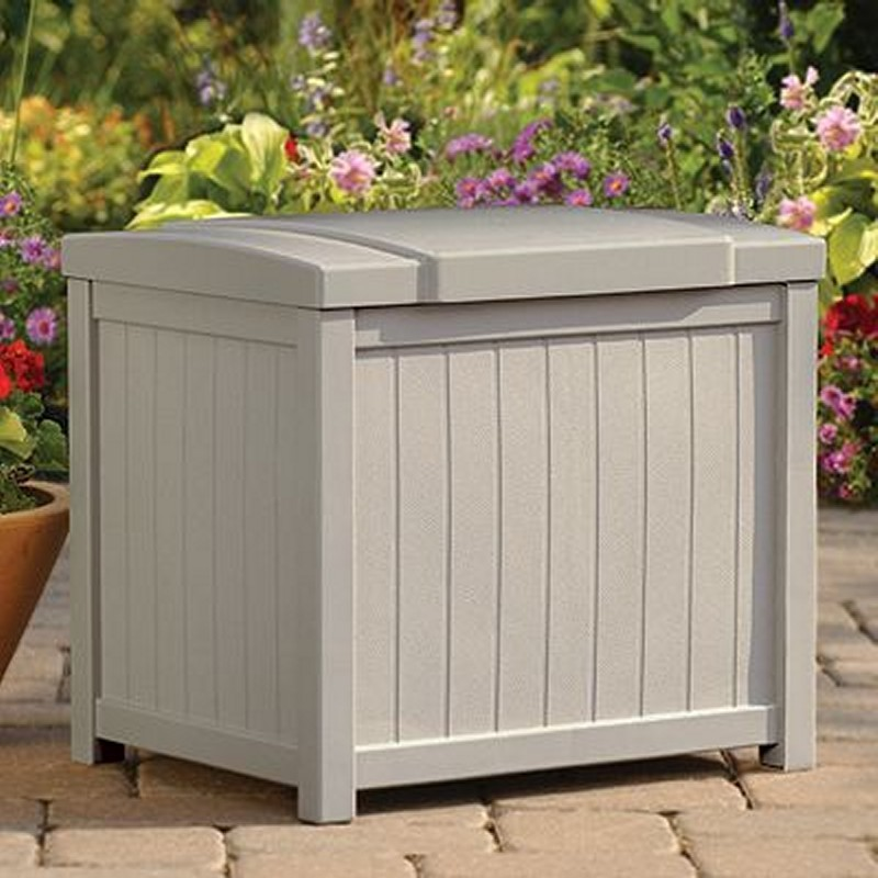 Outdoor Storage Trunk: Small Deck Box 22 Gallons