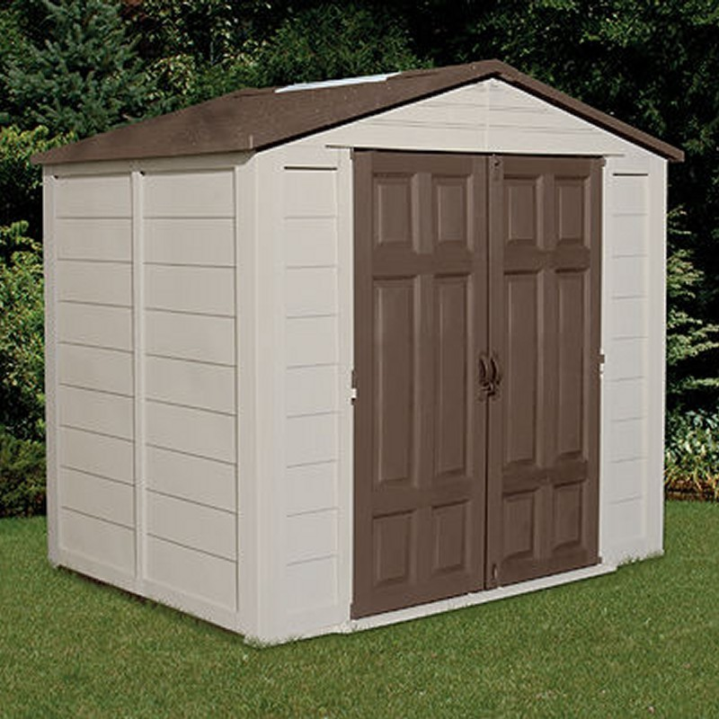Poll Sheds: PVC Outdoor Storage Shed 240 Cubic Feet