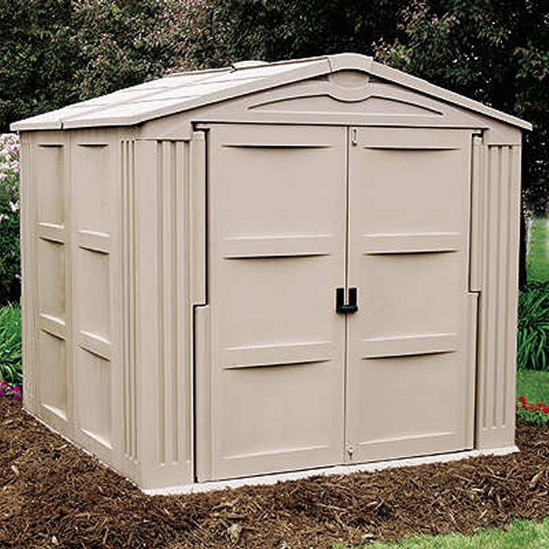 Garden Sheds: PVC Storage Building Shed 310 Cubic Feet