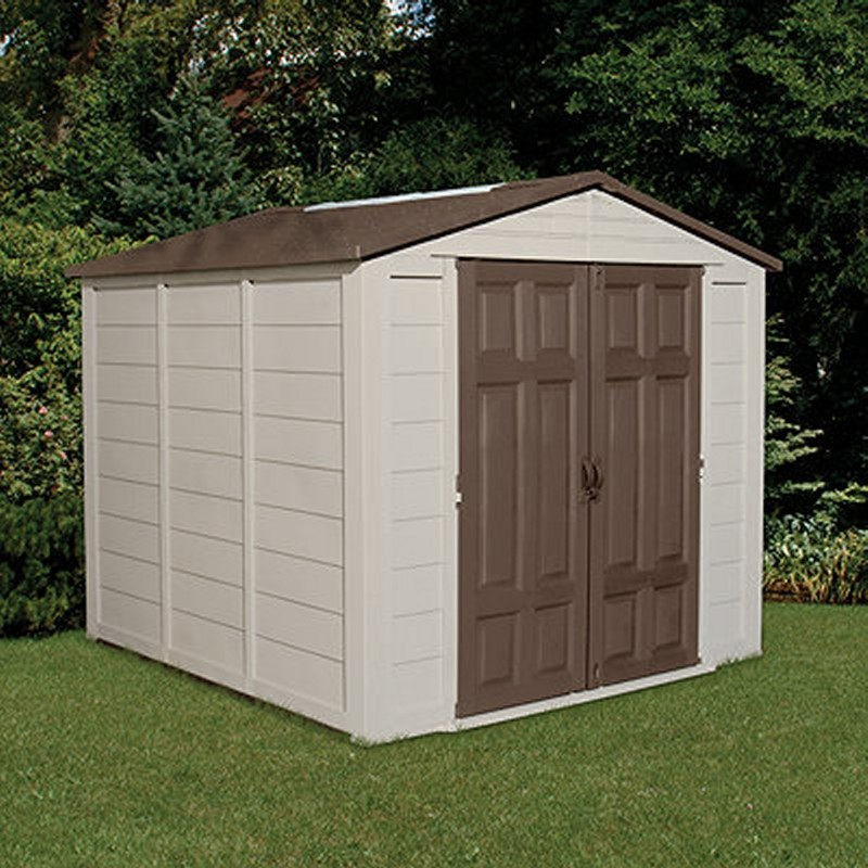Poll Sheds: PVC Storage Building Shed 352 Cubic Feet