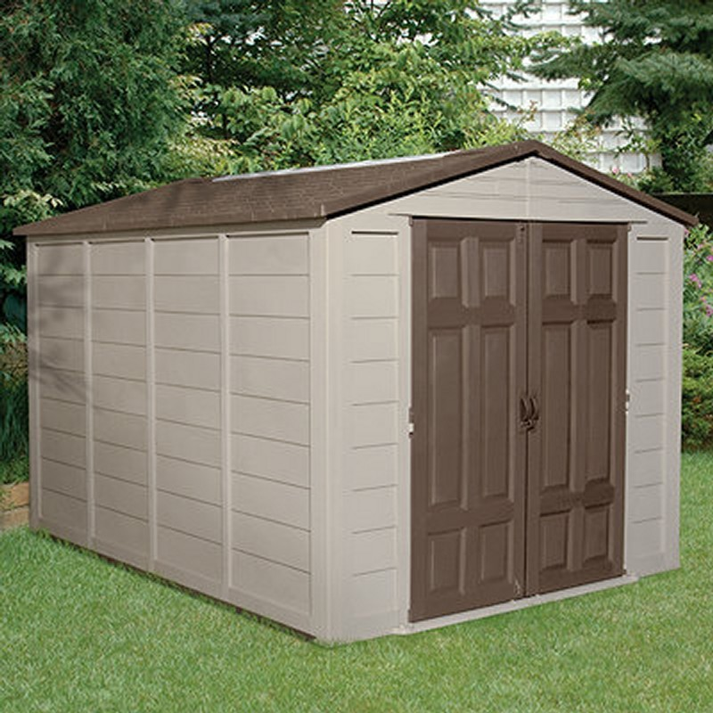 PVC Outdoor Storage Building Shed 464 Cubic Feet SUA01B11C01