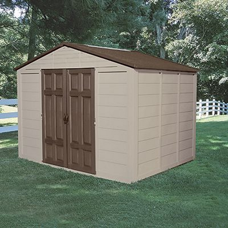 Poll Sheds: PVC Storage Building Shed 475 Cubic Feet