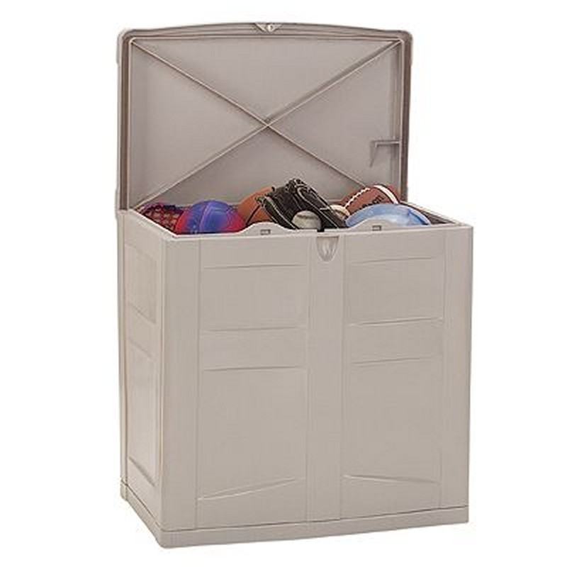 Deck Storage Cabinets, Shelves, Garage, Backyard: Utility Storage Trunk with Lid