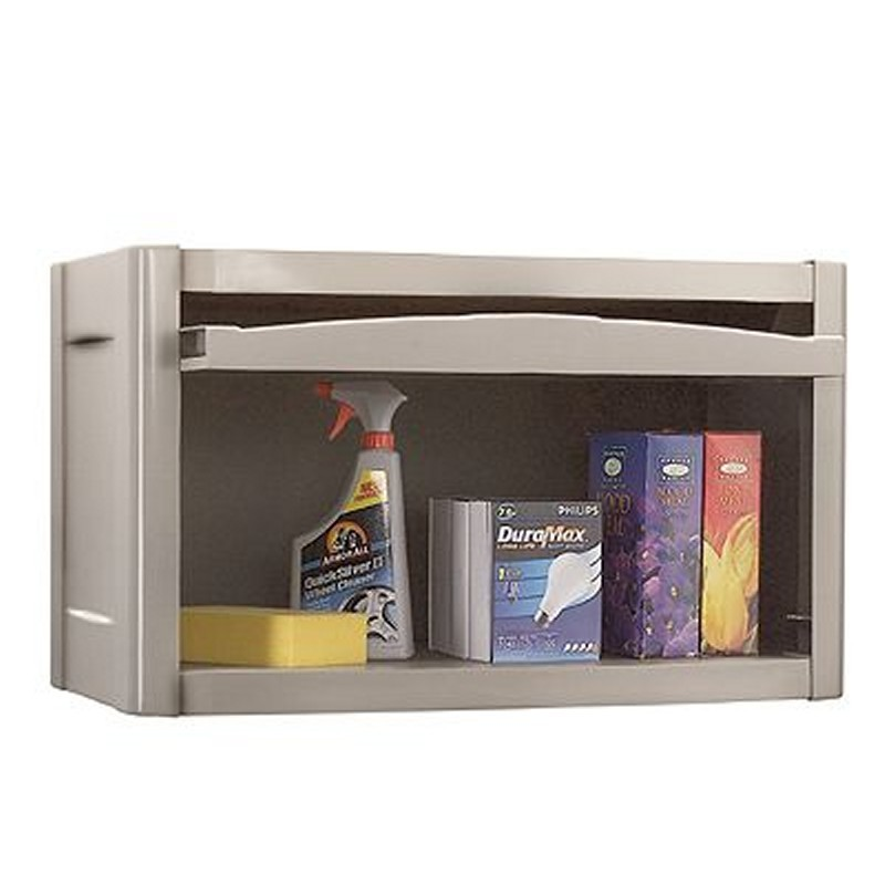 Deck Storage Cabinets, Shelves, Garage, Backyard: PVC Wall Cabinet Taupe - Blue