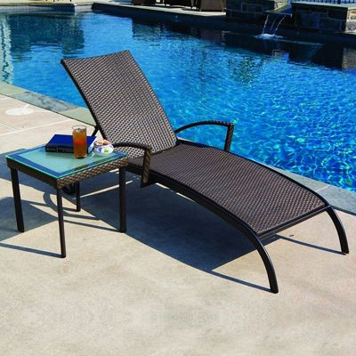 Vento Outdoor Wicker Chaise Lounge Al 44 0138 Cozydays