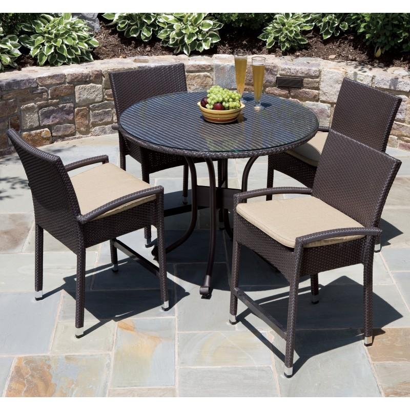 vento wicker high dining patio set 5 al 44 0305