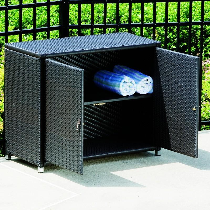 vento resin wicker storage cabinet al 44 0424. Black Bedroom Furniture Sets. Home Design Ideas