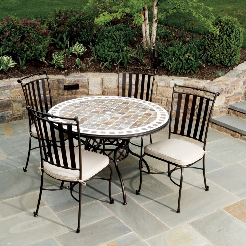 Wrought iron patio furniture country cottage furniture for Wrought iron dining set outdoor