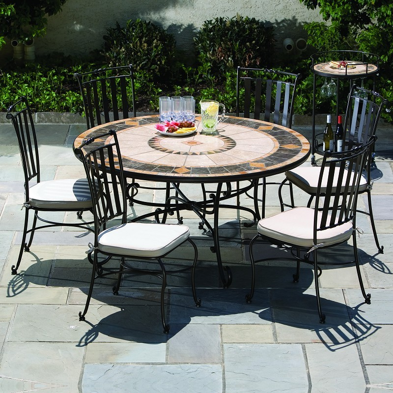 Wrought Iron Dining Patio Set 7-Pcs