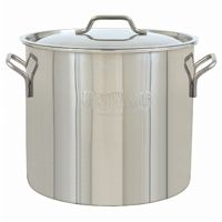 Economy Brew Kettle with Domed Lid 20 Qt Stainless Steel BY1420