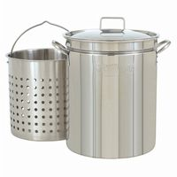 Steam Boil Fry Stockpot - 36 Qt Stainless Steel BY1136