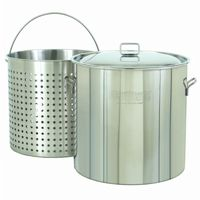 Steam Boil Fry Stockpot - Giant 162 Qt Stainless Steel BY1162