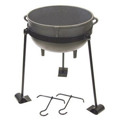 Cast Iron 10-gal. Jambalaya Pot Kit BY-CI-7410