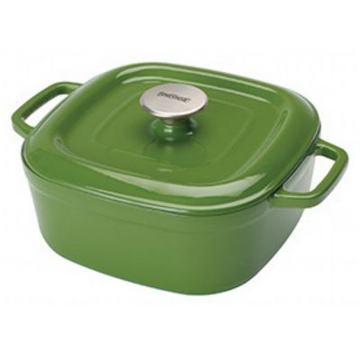 Enameled Cast Iron 4-Qt. Square Casserole in Cypress Green BY7722G