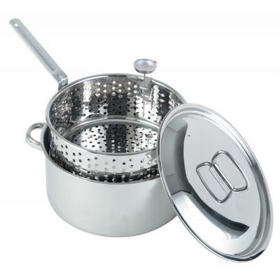 Stainless Steel Deep Fryer Pan 10qt BY1101