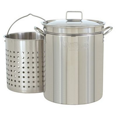 Steam Boil Fry Stockpot - 62 Qt Stainless Steel BY1160