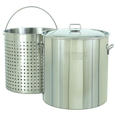 Steam Boil Fry Stockpot - Giant 142 Qt Stainless Steel BY1142