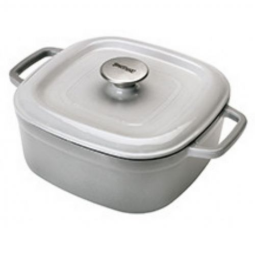 Enameled Cast Iron 4-Qt. Square Casserole in Weathered Grey BY7722S