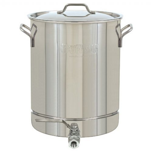 Spigot Stockpot & Lid - 40 Qt - 10 Gal. Stainless Steel BY1040