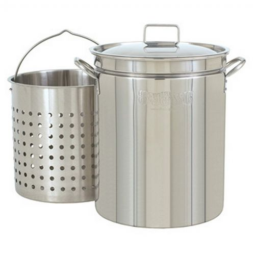 Steam Boil Fry Stockpot - 24 Qt Stainless Steel BY1124