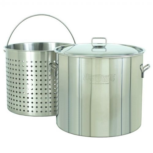 Steam Boil Fry Stockpot - Giant 122 Qt Stainless Steel BY1122