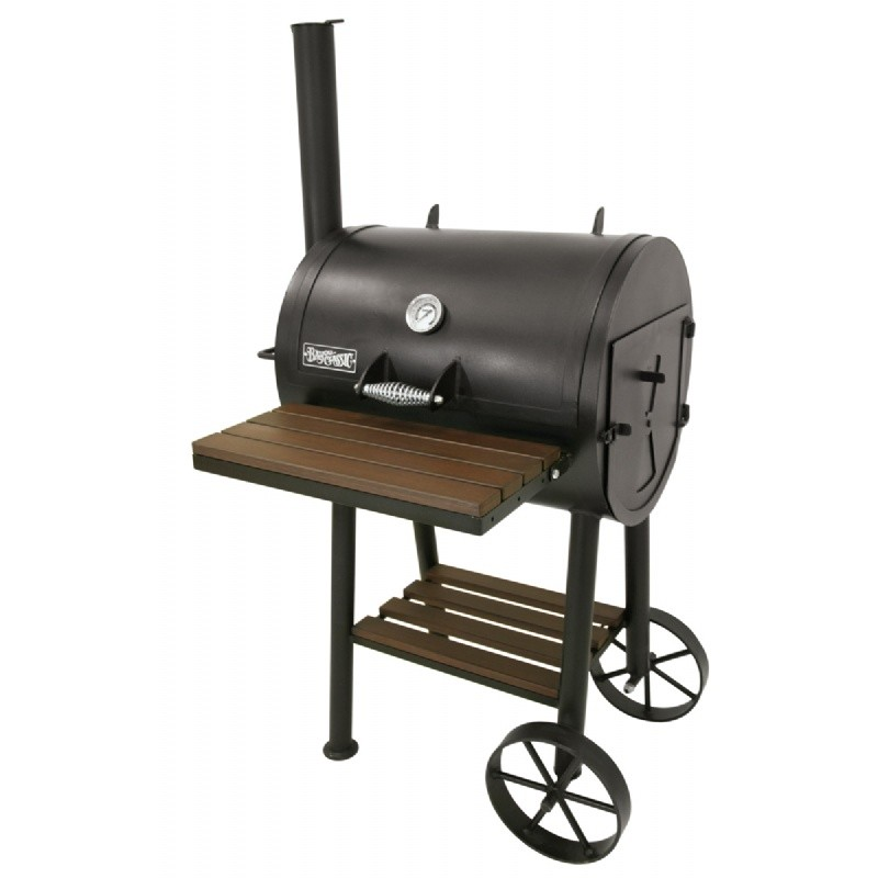 Black Steel Charcoal Smoker Grill 24 x18