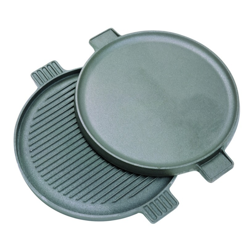 Cast Iron 14 inch Reversible Round Griddle : Griddles