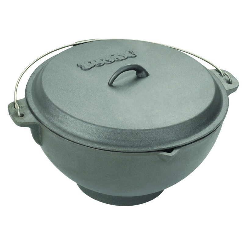 1 Quart Cast Iron Pot with Lid: Bayou Classic 2.75 gal. Cast Iron Jambalaya Pot with Lid