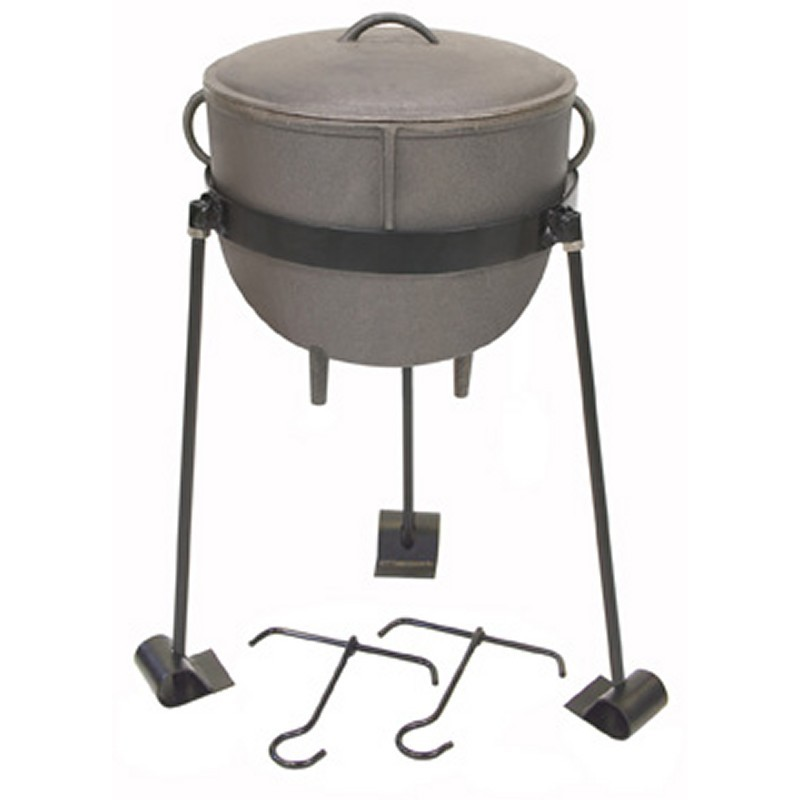 Bayou Classic 4 gal. Cast Iron Stew Pot Set : Cast Iron Cookware