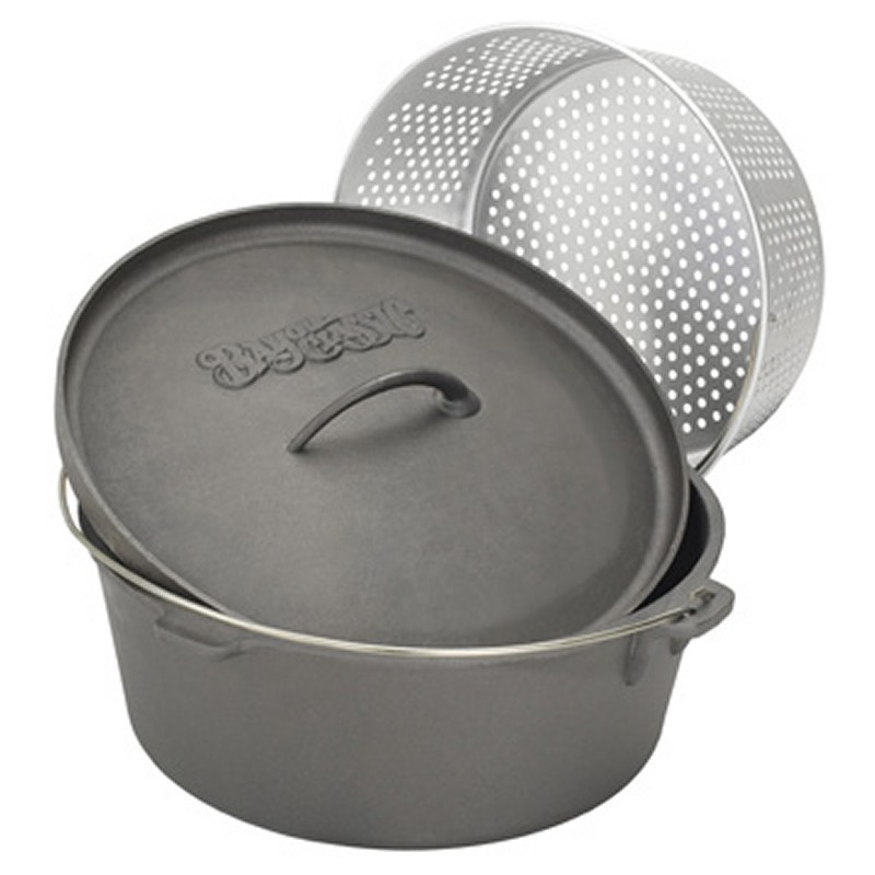 Cast Iron Dutch Oven 20-QT. with Basket