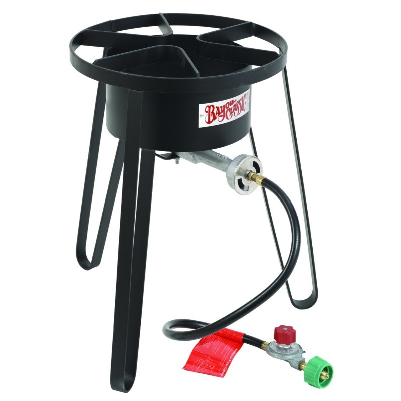 Turkey Fryers with Drain Spouts: Tall Outdoor Gas Burner 10 psi