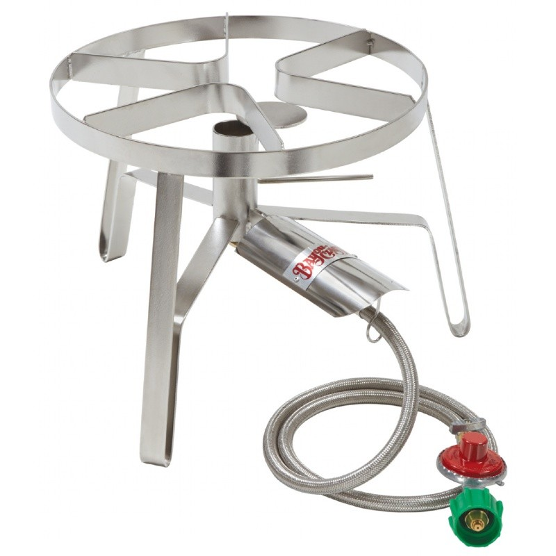 Outdoor Patio Gas Stove Stainless Steel Single Jet 14 Inch : Barbecue Grills