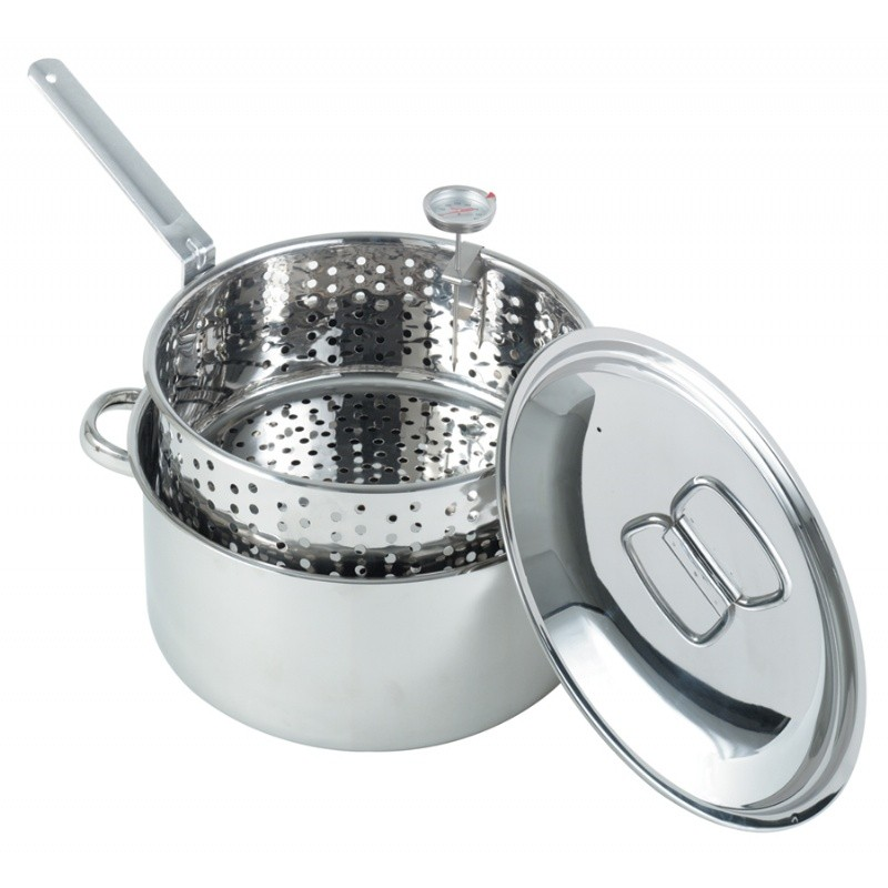 Turkey Fryer Pots, Stock Pots: Stainless Steel Deep Fryer Pot 10qt