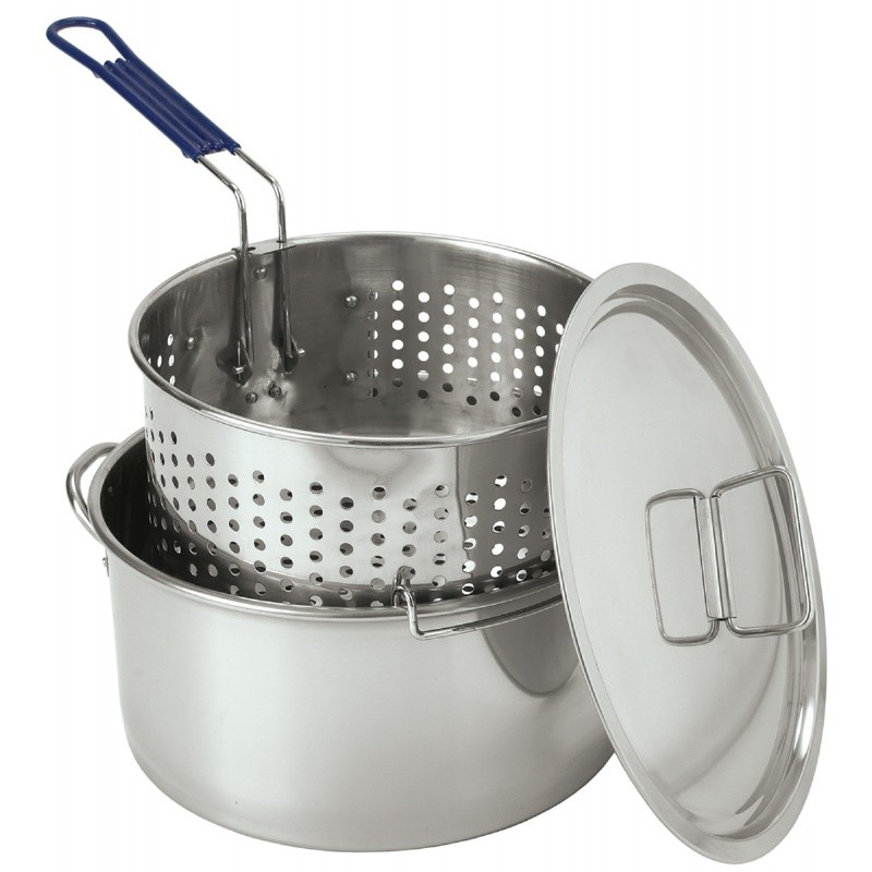 Turkey Fryer Pots, Stock Pots: Stainless Steel Deep Fryer 14qt