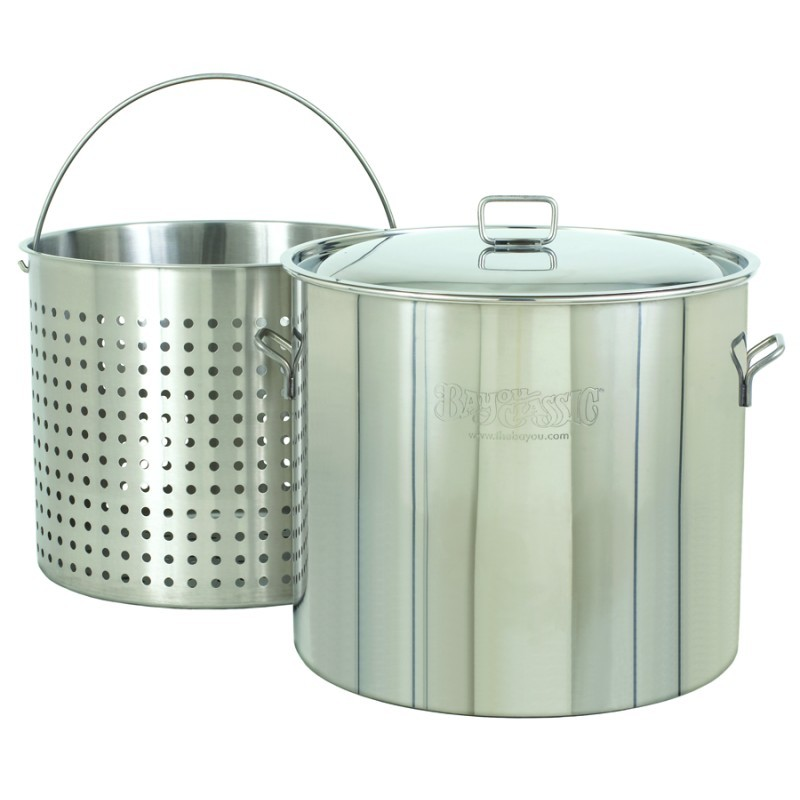 Turkey Fryer Pots, Stock Pots: Stainless Steel Steam Boil Fry Stockpot - Giant 122 Qt Stainless Steel