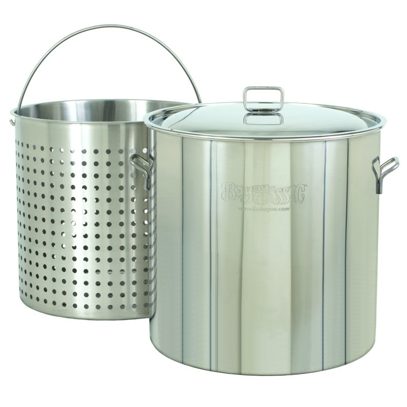 Thermos Turkey Frying Set: Stainless Steel Steam Boil Fry Pot - Giant 162qt