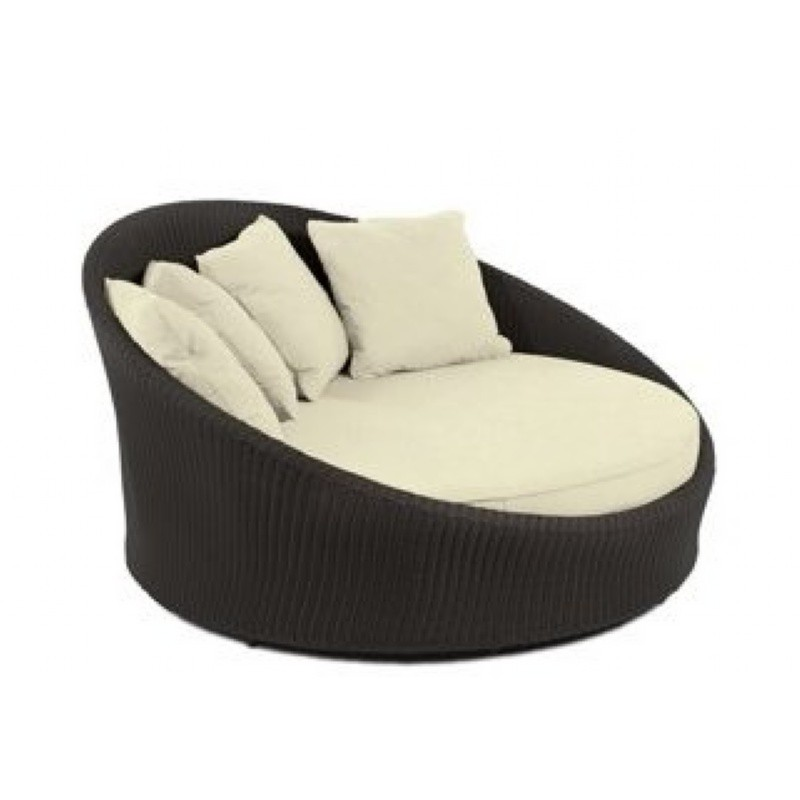 Wicker Chaise Lounges: Kannoa Hallo Wicker Outdoor Daybed Chaise