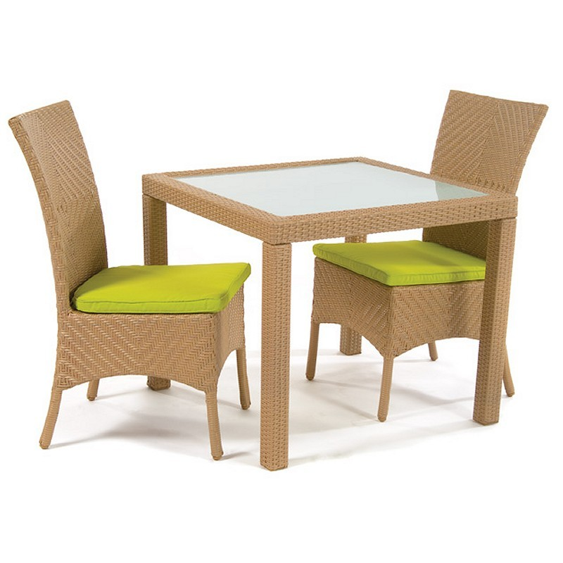 Marbella Outdoor Patio Wicker Dining Set 3-Piece