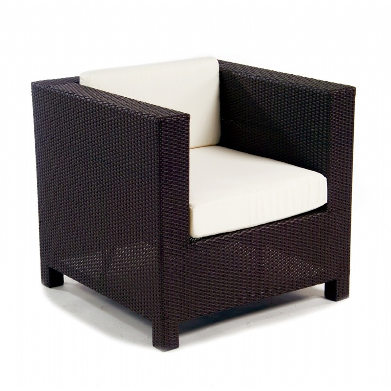 Outdoor Furniture: Club Chairs: Monaco Outdoor Wicker Club Chair