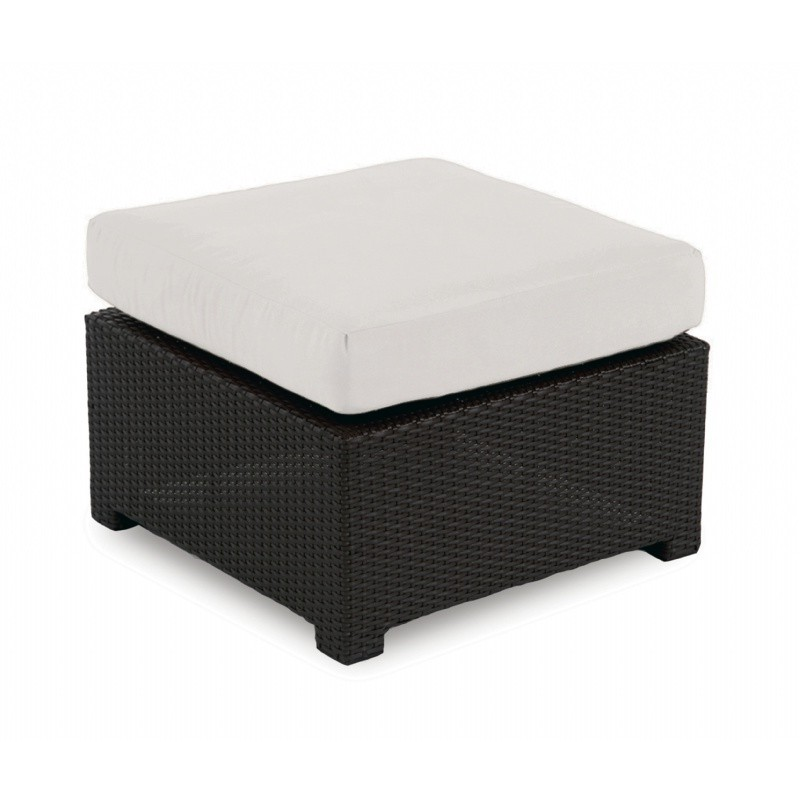 Monaco Outdoor Wicker Club Ottoman