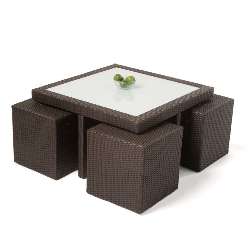 Panama Patio Wicker Dining Group 5-Piece