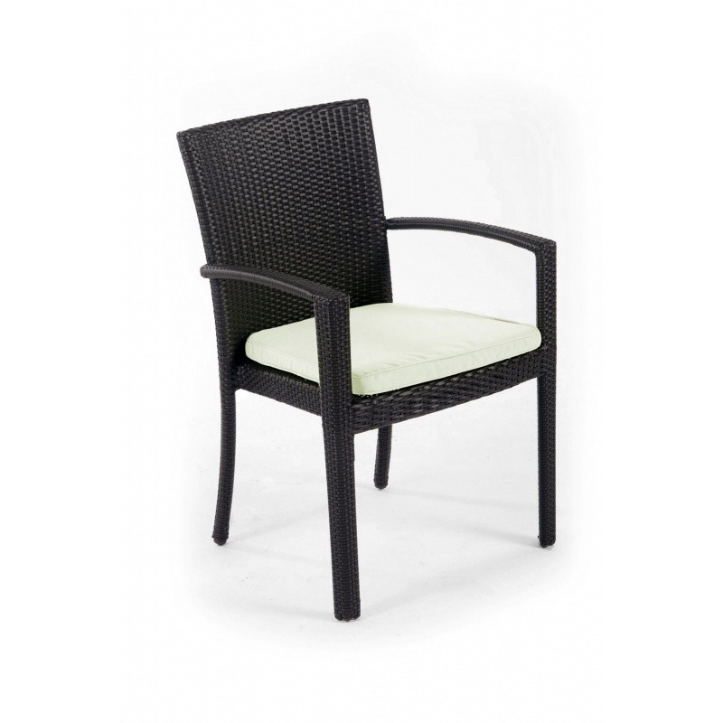 Big Outdoorsman Xl Fold Up Chair: Senna Outdoor Dining Arm Chair with Cushion