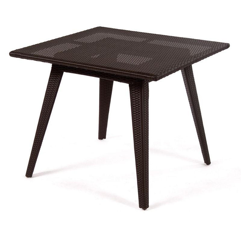Senna Outdoor Wicker Square Dining Table